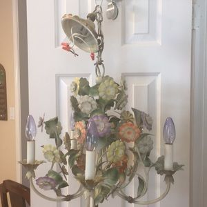 Vintage light fixture made in Italy
